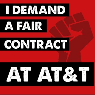 I demand a fair contract at AT&T